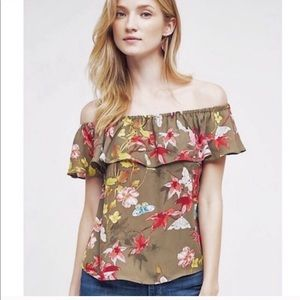 Anthropologie | Maeve Off the Shoulder Top Small